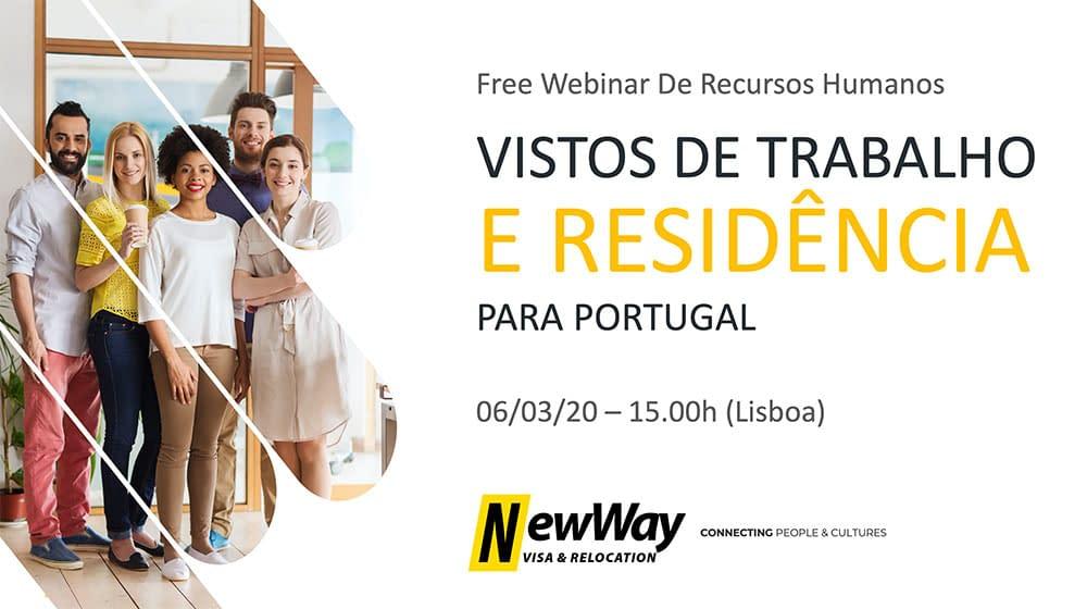 Webinar Vistos de Trabalho e Residência Portugal