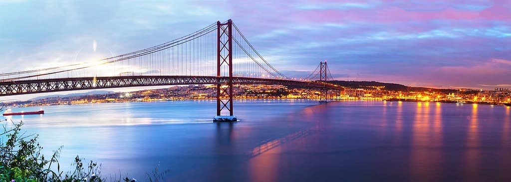 Lisbon view from Tagus river